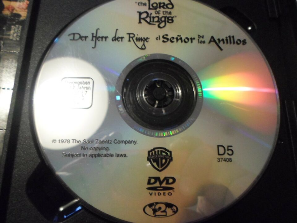Lord Of The Rings (1978), instruktør **UDGÅET**, DVD