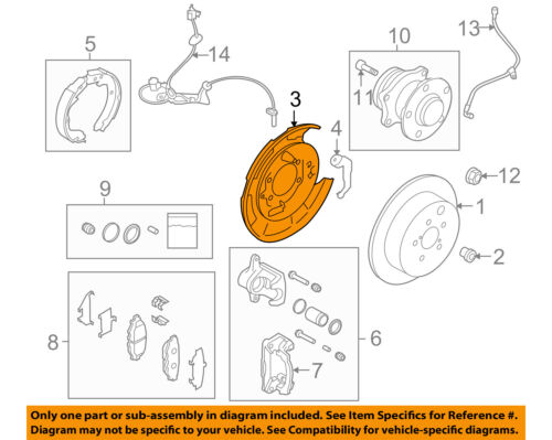 SUBARU OEM 10-14 Legacy Rear Brake-Backing Plate Splash Dust Shield 26704AJ000