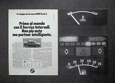 H791- Advertising Pubblicità -1981- BMW SERIE 5 , SERVICE INTERVALL