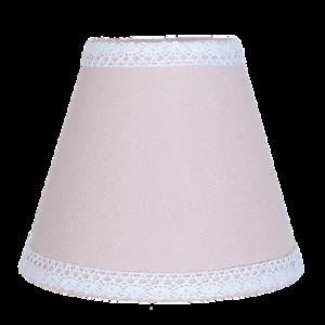 Clayre-amp-Eef-Lampenschirm-Rosa-Shabby-Chic-Borde-Brocante-15x12cm-Neu-Cottage