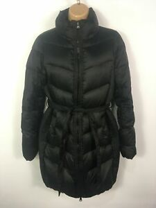 WOMENS-GAP-BLACK-ZIP-UP-BELTED-DOWN-PADDED-WARM-WINTER-PUFFER-JACKET-COAT-SMALL