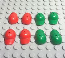 Lego Bulk Red / Green Baseball Cap X8 New Style Mini Figures Hat Headgear Lot