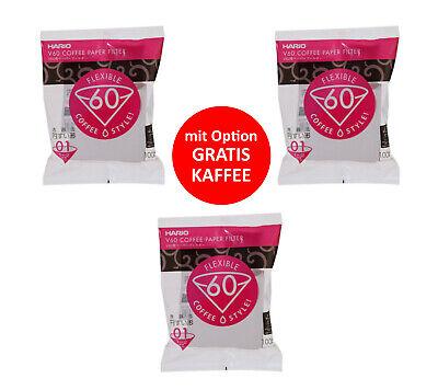 300 Stück Hario v60 02 Filterpapier für Dripper 1-4 Tassen VCF-02-100W-H