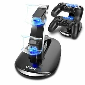 For-PlayStation-4-PS4-Dual-Controller-LED-Charger-Dock-Station-USB-Fast-Charging