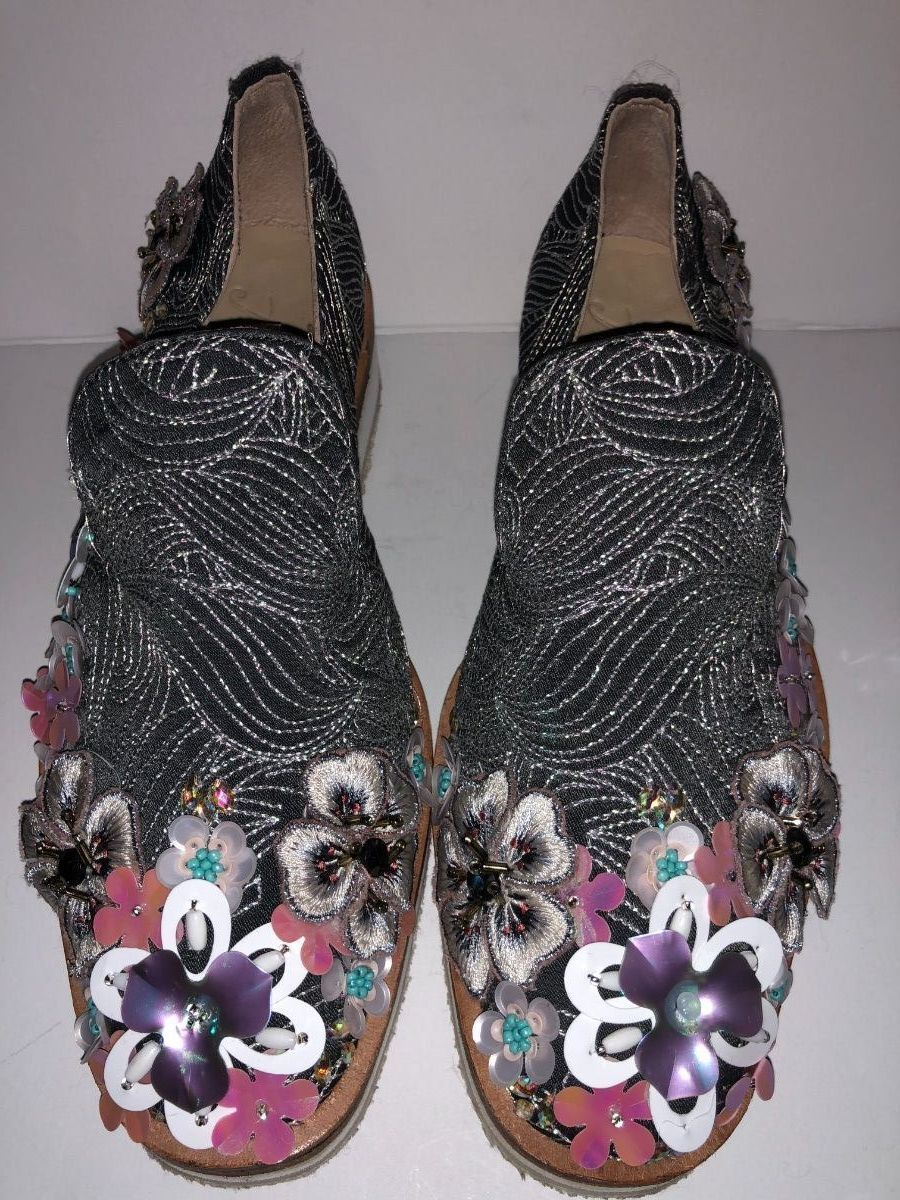 Free People Floral Embroiderouge Embellished Loafers-37