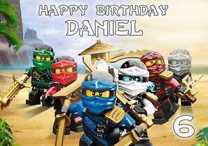 Détails Sur Personnalisé Lego Ninjago Carte Anniversaire Toute Occasion Afficher Le Titre D Origine
