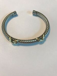 Image Is Loading David Yurman 14k Yellow Gold Sterling Silver 5mm
