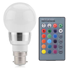 B22 3W RGB LED Lampe Licht Beleuchtung Farbwechsel Glühbirne Fernbedienung