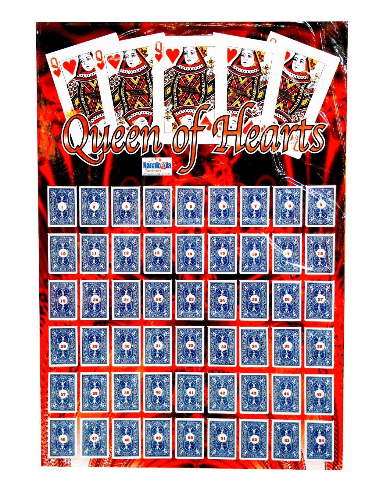 Queen Of Hearts Hearts Hearts Raffle Board 9d49ff