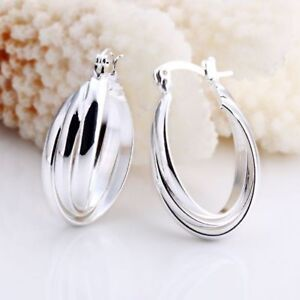 ASAMO-Damen-Ohrringe-kleine-Creolen-925-Sterling-Silber-plattiert-Schmuck-O1158