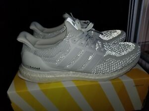 816011ddc1542 Adidas Ultra Boost 2.0 WHITE REFLECTIVE LTD. Size 14 RARE Size