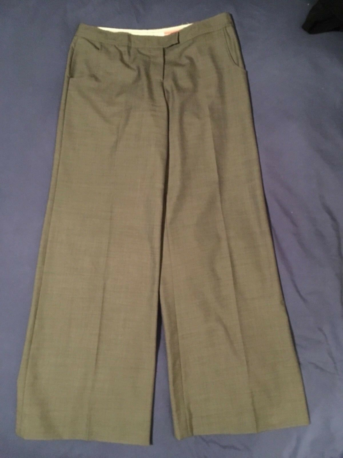 Stella McCartney Straight leg wool trousers % Lana Wool