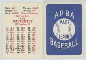Details About 1967 Apba Baseball 1966 Season Clay Dalrymple Philadelphia Phillies Card