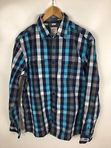 S-OLIVER-Freizeithemd-mehrfarbig-kariert-Groesse-L-100-Baumwolle