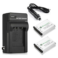Two Batteries + Charger For Fujifilm Fuji Np-45 Np-45a Finepix Xp60 J10 J20 J100