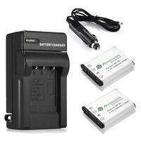 2x Np-45 Batteries + Battery Charger For Fujifilm Finepix Xp10 Xp60 J10 J20 J100