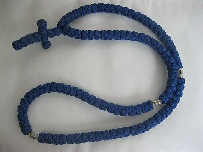 SERBIAN ORTHODOX CHURCH - KNOT NECKLACE SERBIA-BLUE -CROSS