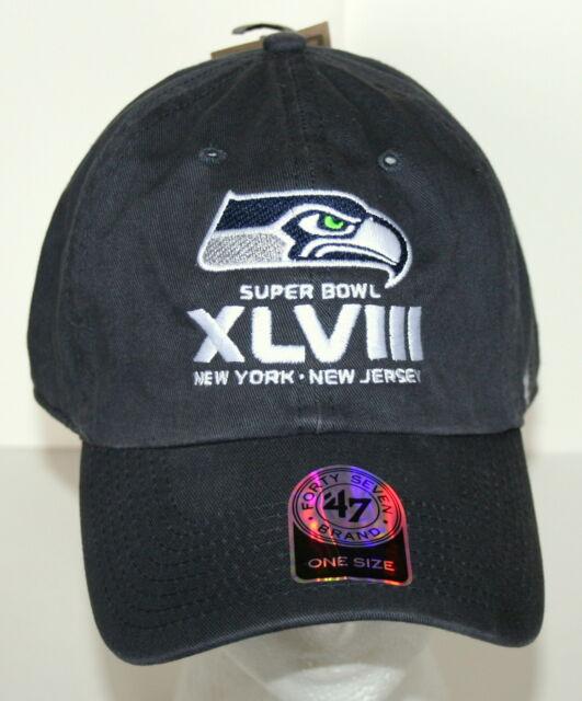 9b8fa21bc 47 Brand Baseball Seattle Seahawks Superbowl NFL Football Team Cap Hat New  OSFA
