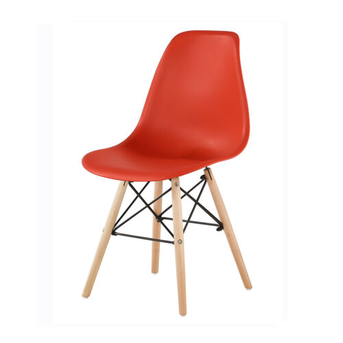 MCC® Set of 4 Retro Eames Plastic Wooden Modern Dining Office Lounge Chair LIA Red,Blue,Grey,Black,White,Yellow
