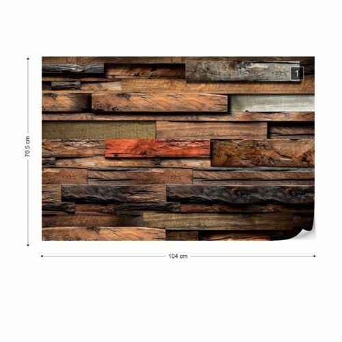 Papier peint photo Papier peint photo facile installer Polaire en bois coloré bois decor