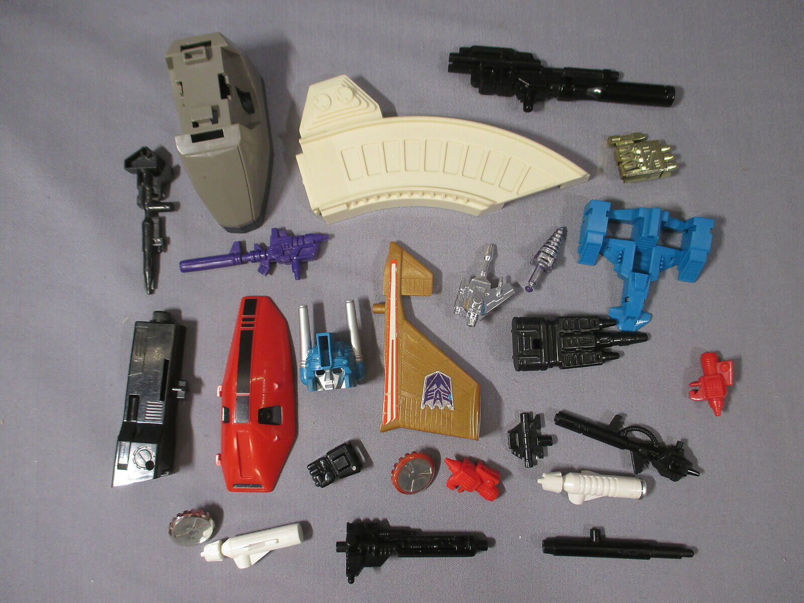 Transformers G1 ACCESSORY LOT Parts Weapons guns missiles VINTAGE 1980's