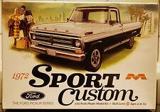 1972 Ford Sport Custom Pickup, 1:25, Moebius 1220 new tool neu neu 2016 neu neu