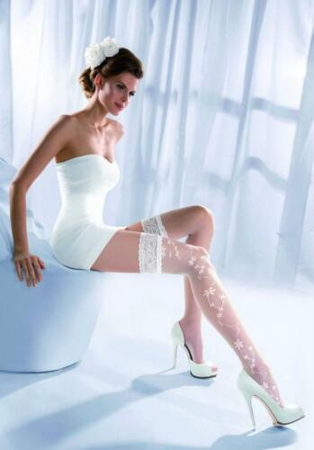 Sensual Wedding Bridal Quality White Stay Up Hold Ups Stockings Lace XS,S,M,L,XL