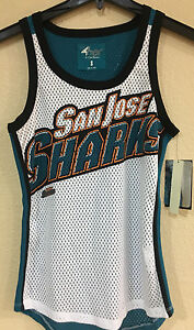 San Jose SHARKS Ladies Mesh Tank Top-Opening Day Tank by G-III -NFL ... 1c31783317b5