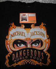 MICHAEL JACKSON DANGEROUS WORLD TOUR PEPSI T-SHIRT L  + PASS GUEST OTTO  VINTAGE