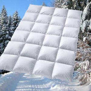 extra warme 100 sibirische daunen winter bettdecke daunenbett 155x220 cm 1400g ebay. Black Bedroom Furniture Sets. Home Design Ideas