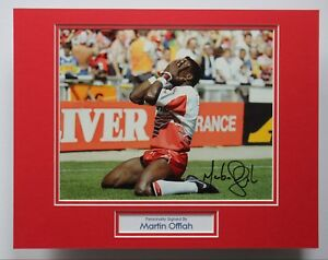 MARTIN-OFFIAH-Wigan-amp-England-Rugby-HAND-SIGNED-Autograph-Photo-Mount-COA