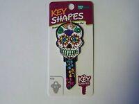 Sugar Skull Schlage Sc1 House Key Blank.