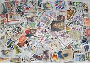 Timbres-France-obliteres-Lot-100-1000-Timbres-tous-differents