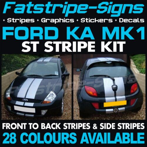 FORD KA MK1 ST STRIPES GRAPHICS DECALS STICKERS CAR VINYL ZETEC RS 1.3 ALLOYS