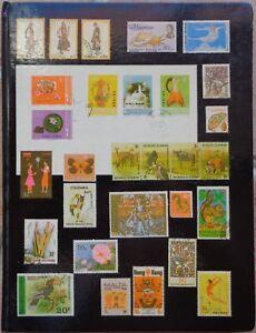 Royaume-Uni-Grande-Bretagne-collection-de-timbres-dans-un-classeur-album