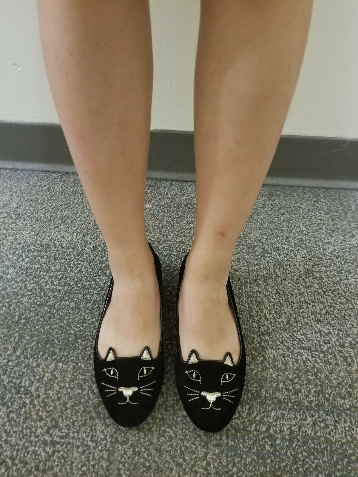 Charlotte Olympia kitty flats black Velvet 36, 6 6 6 studded heel 4a596a