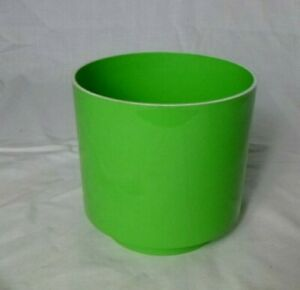 Vtg 70's MOD Lime GREEN LawnWare Plastic Plant Pot Planter