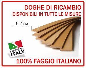 Reti Doghe Su Misura.Dettagli Su Kit 6 Doghe Di Ricambio Per Reti Letto In Legno Tutte Le Misure Larghezza 6 7 Cm