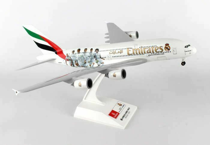 SKR880 Skymark Emirates A380 1 200 W Gear Real Madrid modellllerlerl Airplan