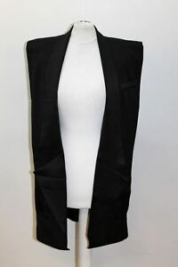 BNWT-BALMAIN-X-H-amp-M-Ladies-Black-Wool-Sleeveless-Tux-Jacket-Size-UK6-EU34