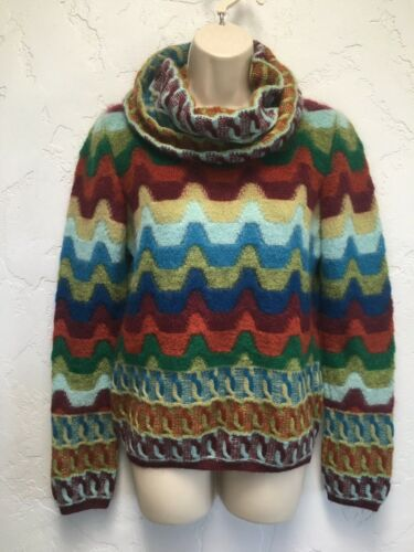 Incredible Missoni Orange Label Cowl Neck Sweater