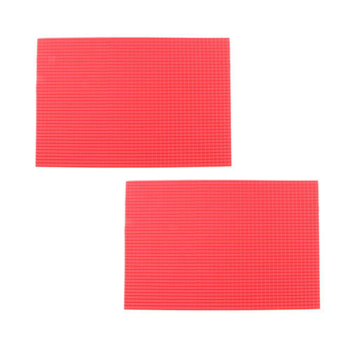 2Pcs 1//50 Modellmaterial PVC Blatt Ziegeldach 200x300mm Architektur Plan