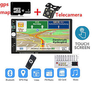DOPPIO-DIN-7-034-2-DIN-HD-Autoradio-GPS-Stereo-MP5-AUX-IN-FM-Bluetooth-Navigatore