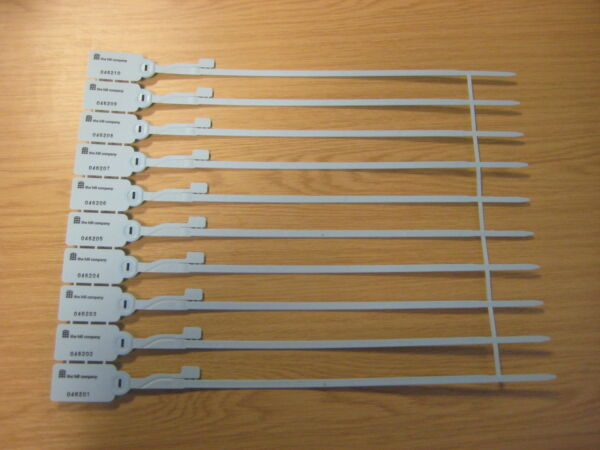 100 Numbered Security Tags/seals For Boxes/crates - New Rijk En Prachtig
