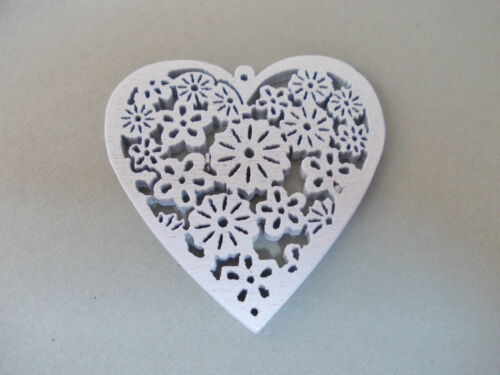 MAKE UR OWN JEWELRY 5 BEAUTIFUL WOODEN COLOURFUL HEART PENDANTS CHOOSE COLOURS