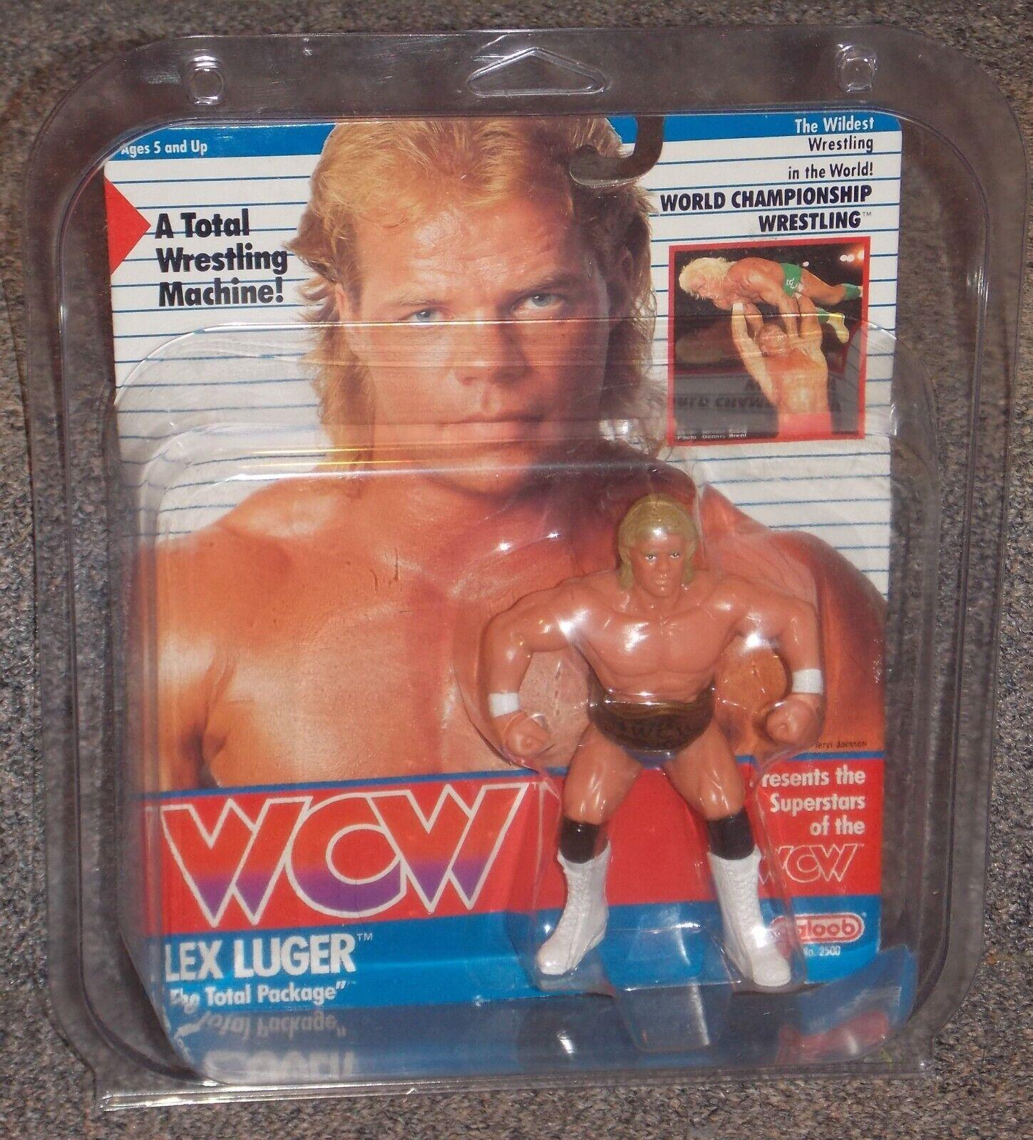 tienda hace compras y ventas Vintage 1990 1990 1990 Galoob WCW Lex Luger Lucha Libre Figura Nuevo en paquete Tarjeta American  mejor precio
