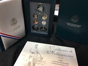 1995-Civil-War-Prestige-Proof-Coin-Set-United-States-Mint