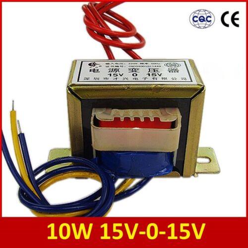 10 W Dual 15 V 15V*2 Transformateur De Puissance D/'Entrée Climatisation Sortie 220V-50Hz climatisation 15V-0-15V EI48