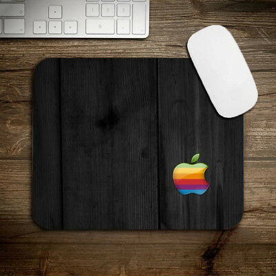 Mouse Pad Apple Rainbow Logo Gaming  Mousepad Computer Mouse Mat Anti Slip