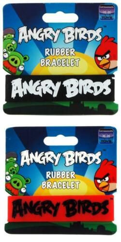 Assorted Angry Birds Rubber Bracelet